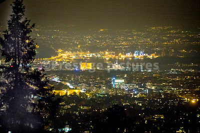 The lights of the city of Oslo at night