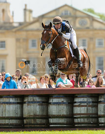 Jamie Atkinson and CELTIC FORTUNE - Cross Country - Mitsubishi Motors Badminton Horse Trials 2013.