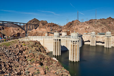Water Intakes At Hoover Dam