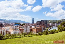 Extebarria park and city, Bilbao, Spain