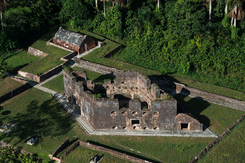 Zeelandia, a Dutch fort built 1743, Fort Island on Essequibo river, Guyana, South America