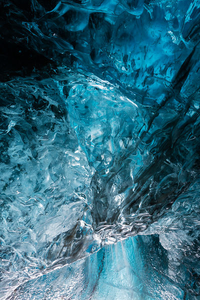 Interior Detail of an Ice Cave at Vatnajökull Glacier