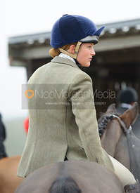 Amelia Leeming at the meet - The Cottesmore Hunt at Newbold 18/2