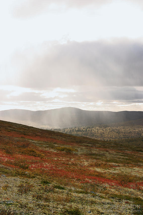 Rain and sun over the tundra