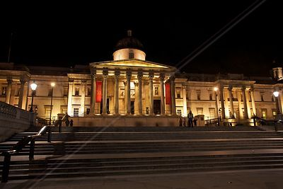 The National Gallery in London's Trafalgar Square