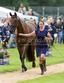 Lillian Heard and LCC BARNABY at the trot up, Land Rover Burghley Horse Trials 2018