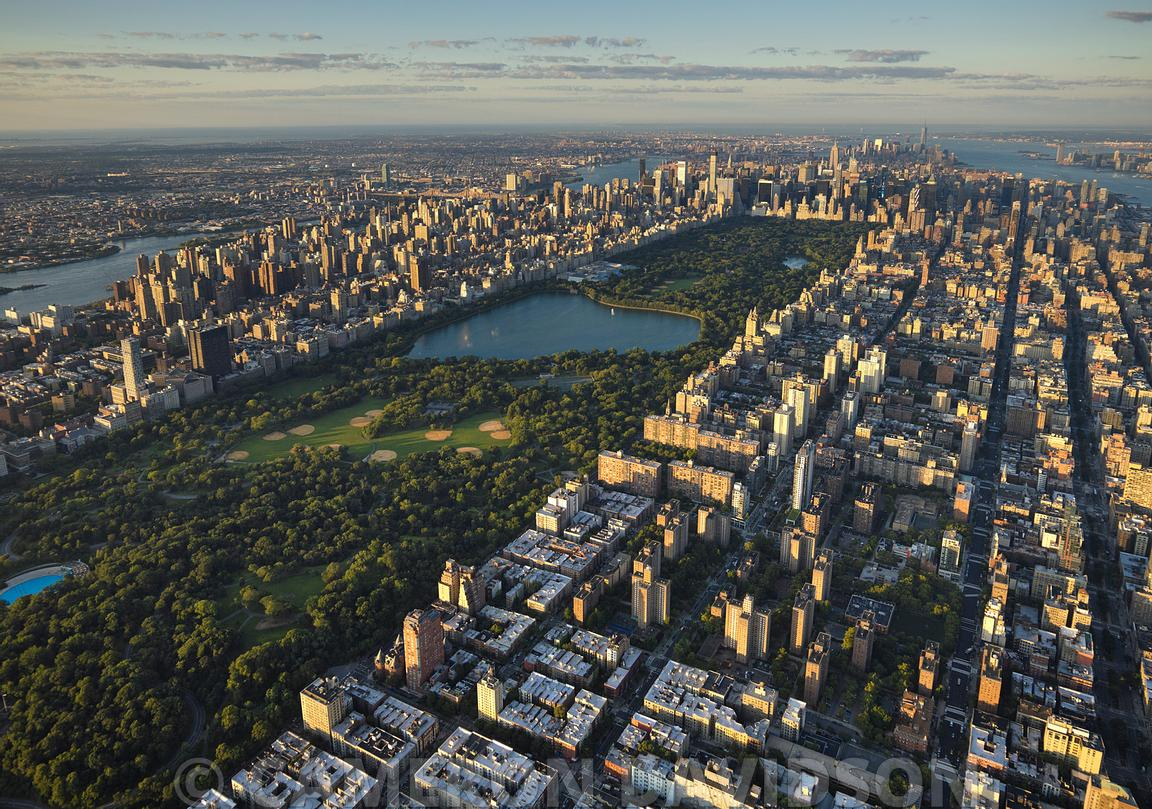 Aerial photograph of NYC Central Park