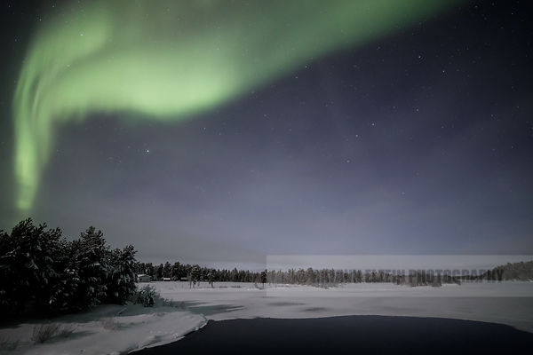 Aurora near Inari in Finnish Lapland