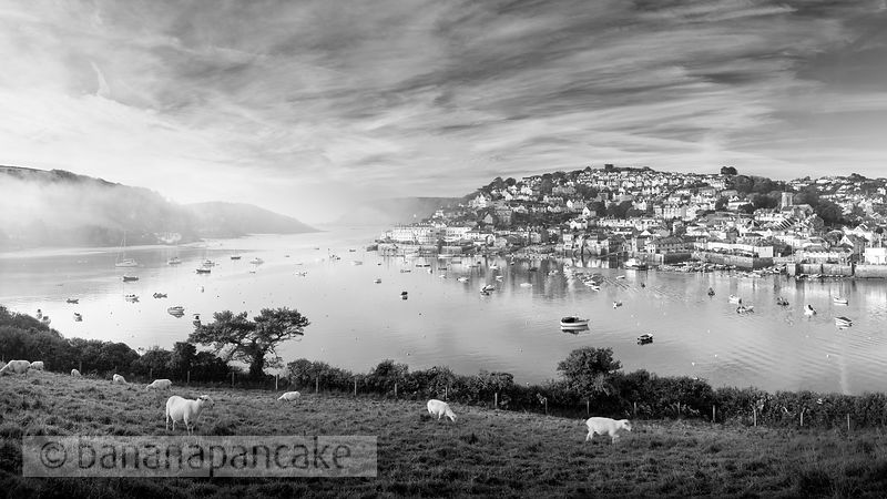 Salcombe, from Snapes Point Black and White Print (BP6569BW)