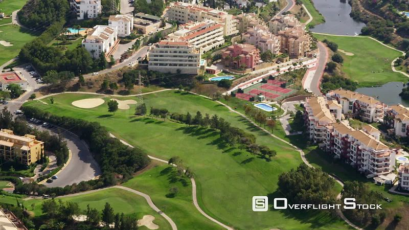 Aerial View of Golf Course and Apartment Complexes, Spain