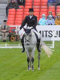 Bill Levett and SILK STONE - Dressage phase, Mitsubishi Motors Badminton Horse Trials 2014