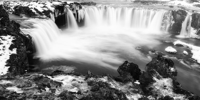 Godafoss Black and White