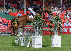 Mark Todd and MAJOR MILESTONE - show jumping phase,  Mitsubishi Motors Badminton Horse Trials, 6th May 2013.