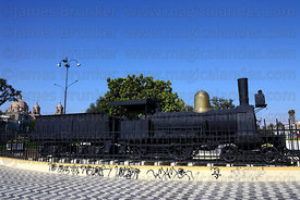 Historic steam locomotive used to transport troops in The War of the Pacific , Tacna , Peru
