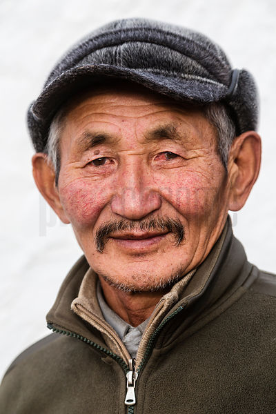 Portrait of a Tuvan Man