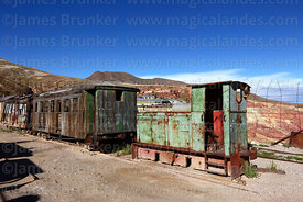 Ruhrthaler 4WDM locomotive number 1517 at Pulacayo, Potosi Department, Bolivia