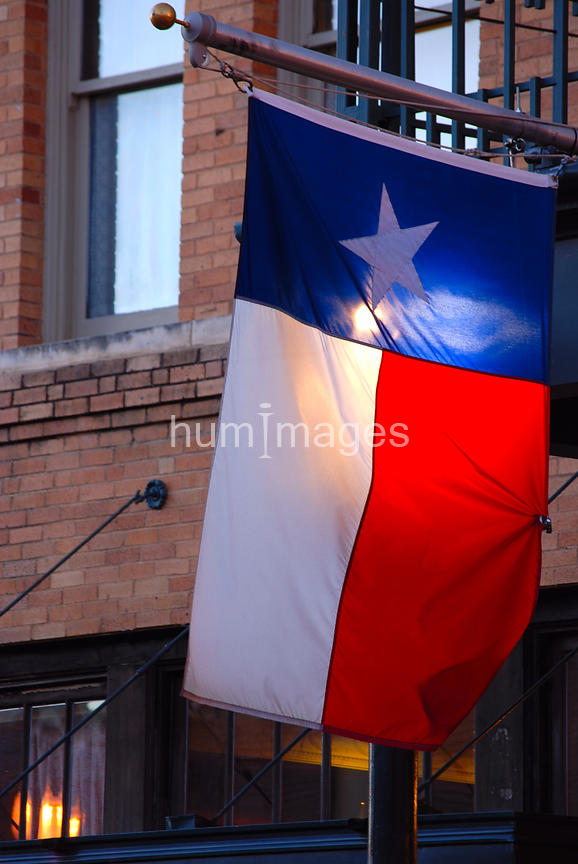 Texas flag backlit