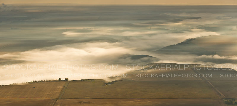 Fog over the Bow River in Southern Alberta