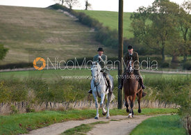 Ashley Bealby and Max Chenery - The Cottesmore Hunt at College Farm, 18/10/11