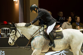 Bordeaux, France, 3.2.2018, Sport, Reitsport, Jumping International de Bordeaux - Prix HOTEL BURDIGALA .Trophée BORDEAUX METROPOLE. Bild zeigt Eduardo ALVAREZ AZNAR (ESP) riding Fidux (5*)...3/02/18, Bordeaux, France, Sport, Equestrian sport Jumping International de Bordeaux - Prix HOTEL BURDIGALA .Trophée BORDEAUX METROPOLE. Image shows Eduardo ALVAREZ AZNAR (ESP) riding Fidux (5*).