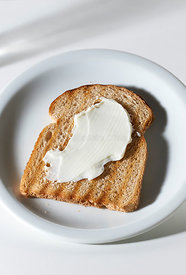 Slice of Whole Wheat Bread with Curd.
