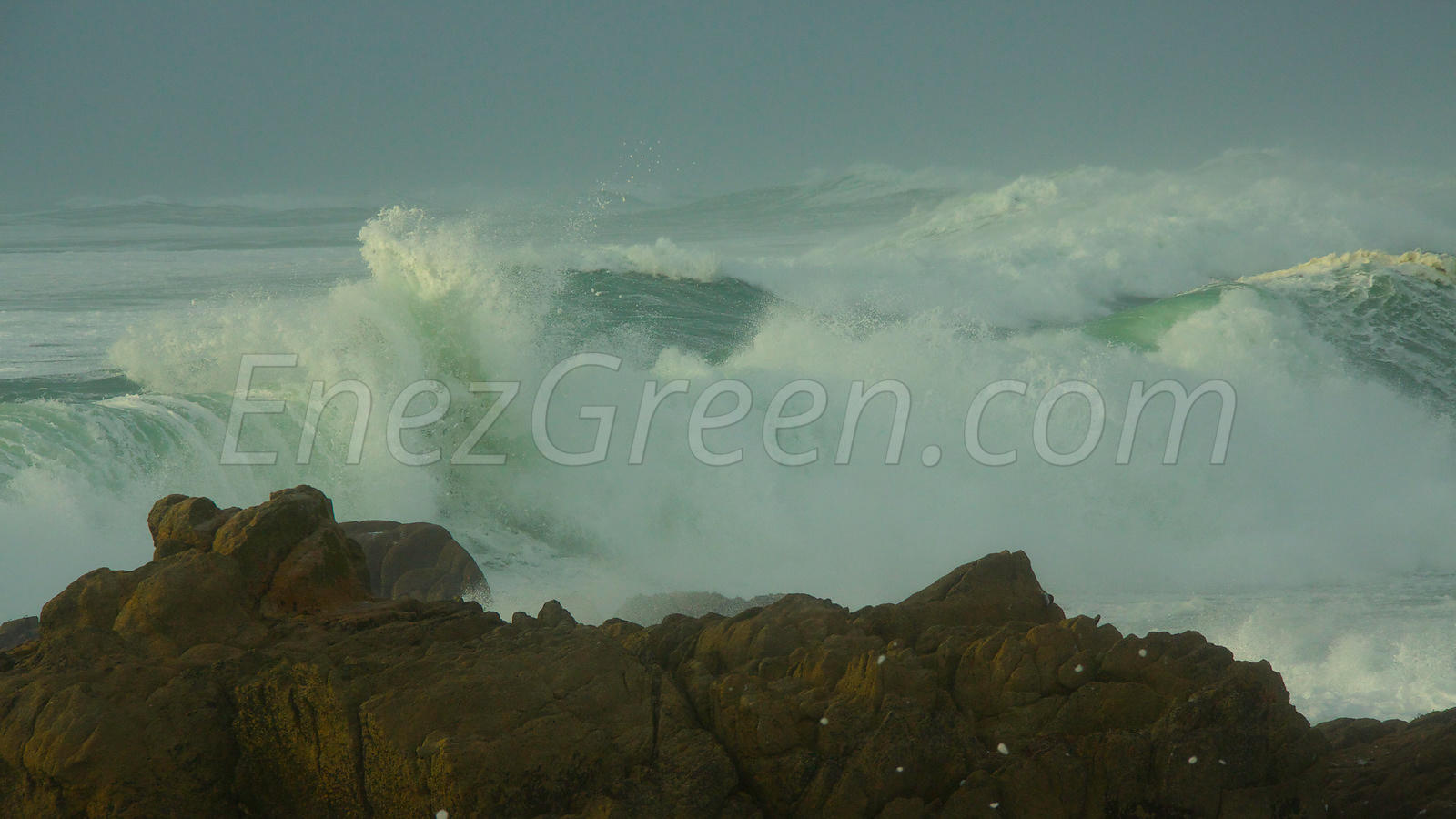 Sea storm in Brittany