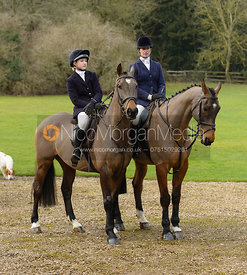 Amelia Leeming at the Cottesmore Hunt meet at Little Dalby Hall