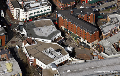 aerial photograph of the Arcadian Centre Birmingham, West Midlands England UK