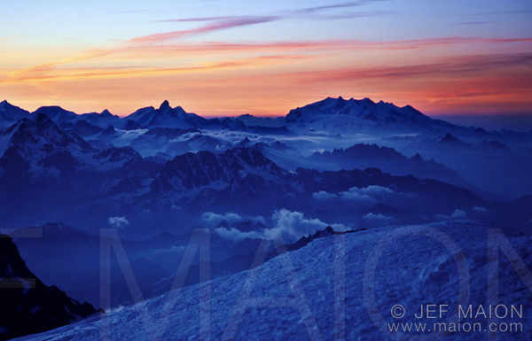 Sunrise at the top of Europe images