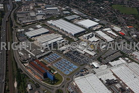 Birmingham high level aerial photograph of  Fort Dunlop East Drive fort Parkway
