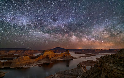 Milky Way Over Gunsight Butte, Lake Powell