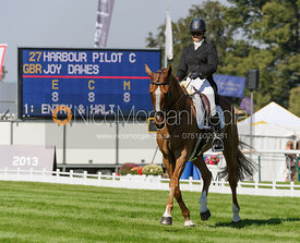 Joy Dawes and HARBOUR PILOT C - dressage phase,  Land Rover Burghley Horse Trials, 5th September 2013.