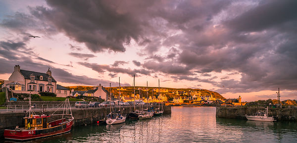 Portpatrick harbour sunset