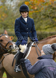 Hannah Turcan at the meet - Cottesmore Hunt Opening Meet, 24/10/2017