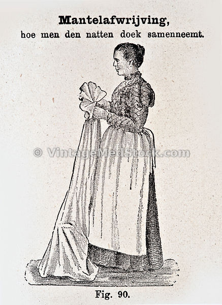 Nurse with sheet
