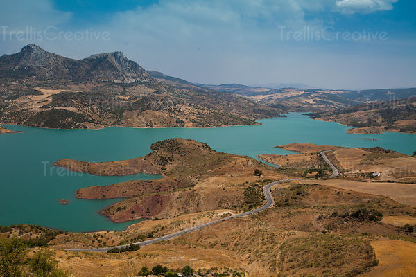 The lake at Zahara de la Sierra, Andalucia, Spain