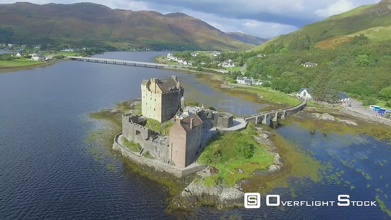 Eilean Donan Castle Drone Video Highlands of Scotland