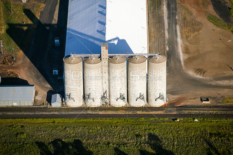 Silos in Moree, New South Wales, Australia