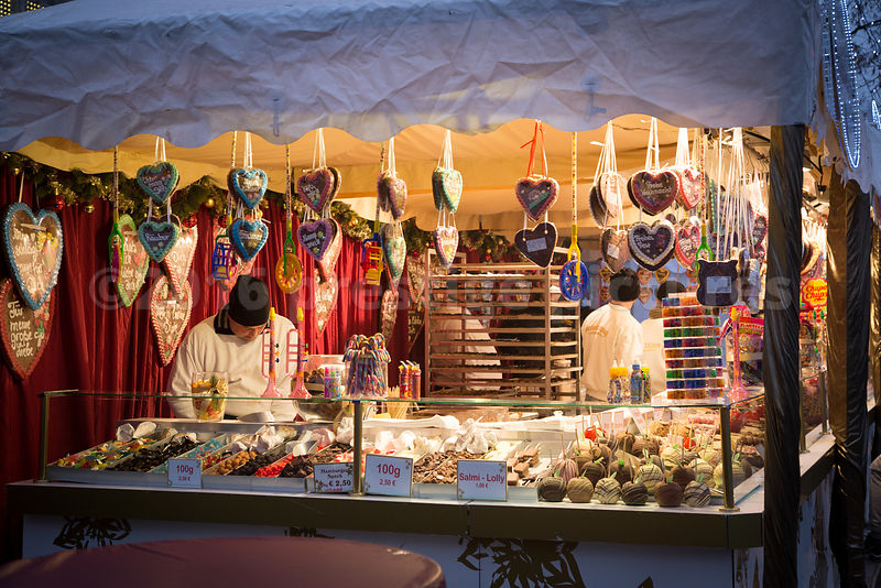 Confectionary Stall at the White Magic Christmas Market in Hamburg