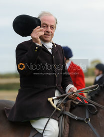 Roger Dungworth at the meet - The Cottesmore Hunt at Toft 27/10