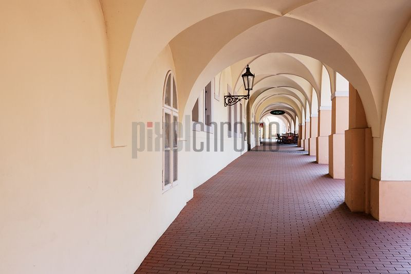 Cloistered Sidewalk in Hradcany