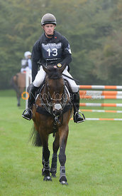 Angus Smales and BALLYVOONEY - cross country phase,  Land Rover Burghley Horse Trials, 6th September 2014.