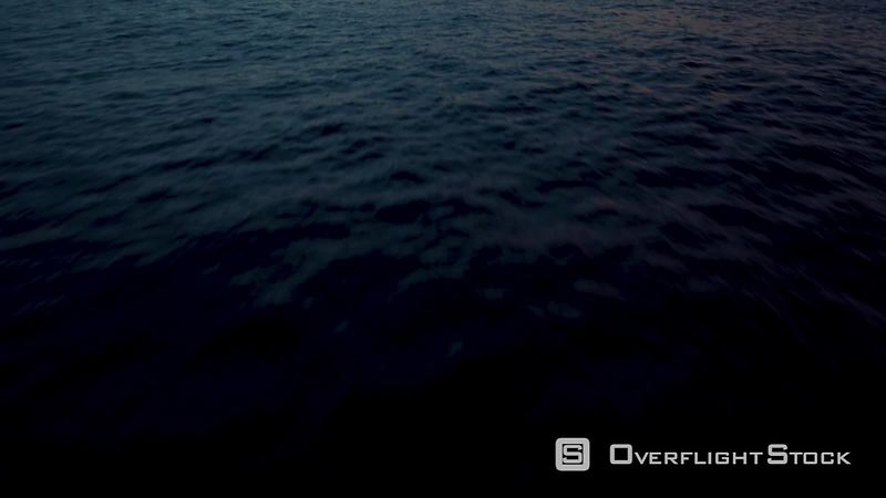 Into The Ocean, La Palma, Sunrise filmed by drone, Canary Islands