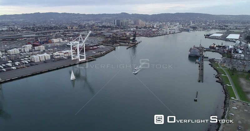 Oakland California Shipping Docks and Industrial area