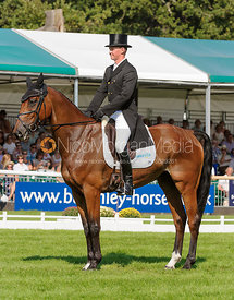 Matthew Heath and THE LION - dressage phase,  Land Rover Burghley Horse Trials, 5th September 2013.