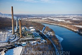 Aerial photograph of the Dickerson Generating Station in Dickerson, Maryland