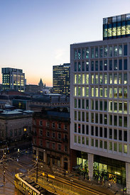 Cityscape | Canvas wall art | for sale | Manchester morning skyline