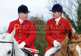 Cottesmore Huntsman Andrew Osborne and Ashley Bealby