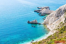Coastline of the beautiful island of Kefalonia. Kefalonia, Greek Islands, Greece