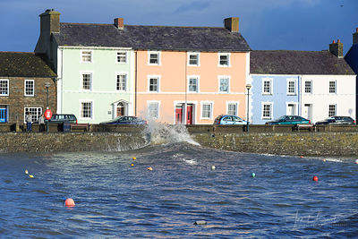 High tides, Aberaeron harbour